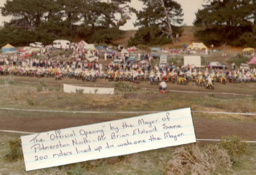 Taikorea MX Park offical opening by the Palmerston North Mayor Brian Elward 1975